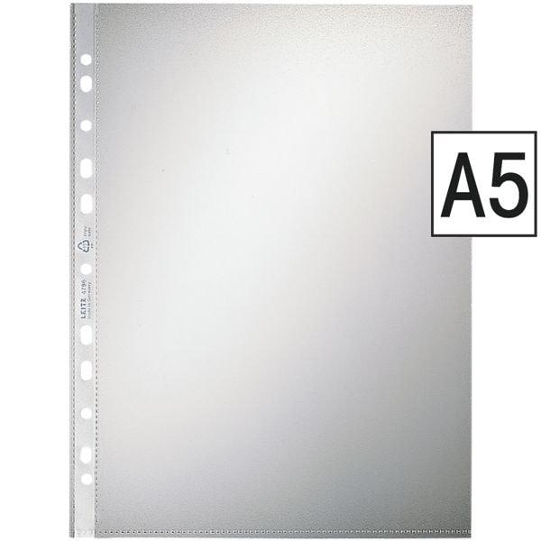 LEITZ Prospekthülle 4795 A5 genarbt, oben offen - 100 Stück