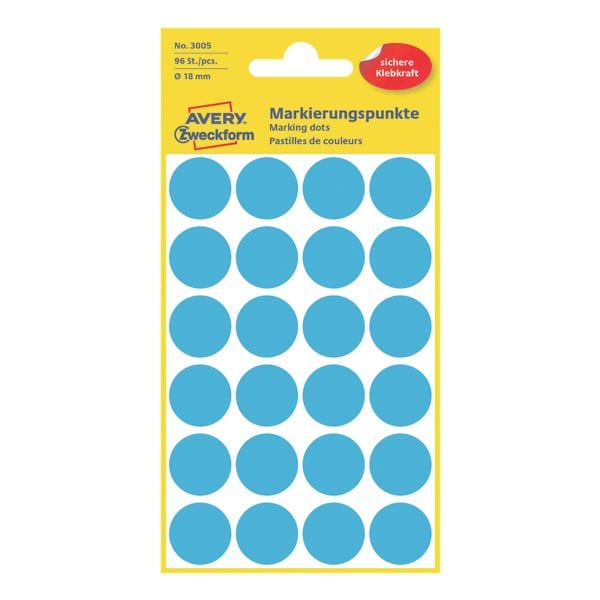 Avery Zweckform Avery Zweckform Markierungspunkte - 18 mm Ø - selbstklebend