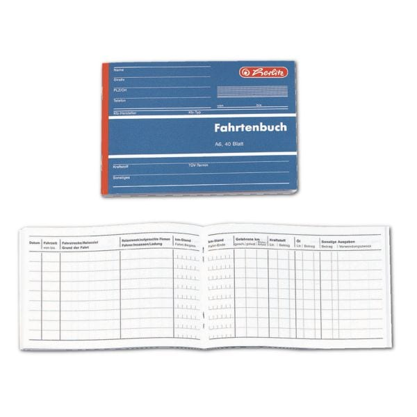 Herlitz Fahrtenbuch »840645« (A6 quer)