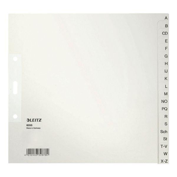 grau für 8 Ordner A-Z LEITZ Tauenpapier-Register