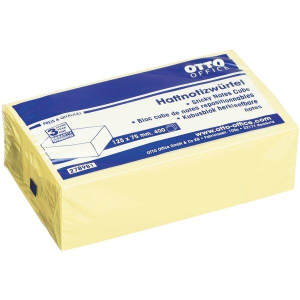 OTTO Office Haftnotizwürfel 125 x 75 mm 400 Blatt gelb