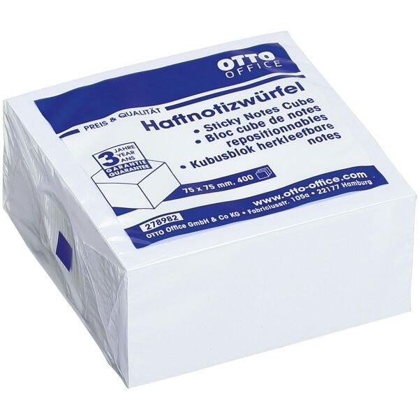 OTTO Office Haftnotizwürfel weiß 75x75 mm 400 Blatt