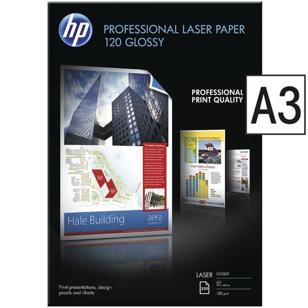HP Foto-Laserpapier »Professional Laser Paper 120 glossy« A3 120g
