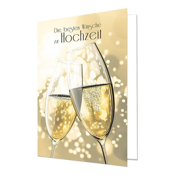 Grußkarte LUMA KARTENEDITION Hochzeit, Sonderformat, mit Umschlag, 6 Stück