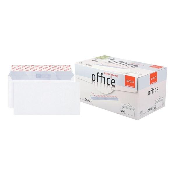 Briefumschläge ELCO Office C5/6, DIN lang+ 80 g/m² ohne Fenster, haftklebend - 200 Stück