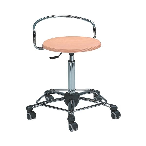 mayer Sitzmöbel Sitzhocker - verchromtes Stahlfußkreuz