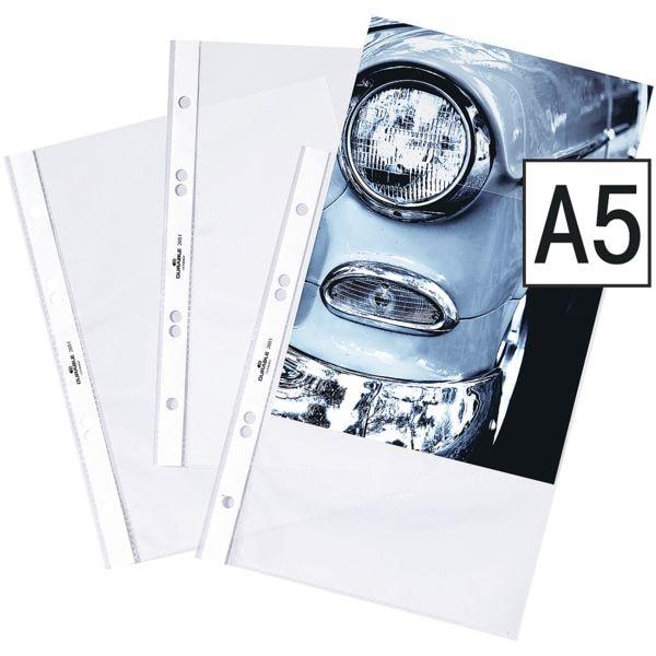 Durable Prospekthülle A5 glasklar, oben offen - 25 Stück