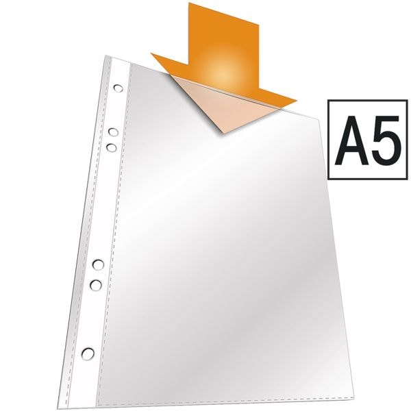 Durable Prospekthülle A5 genarbt, oben offen - 25 Stück