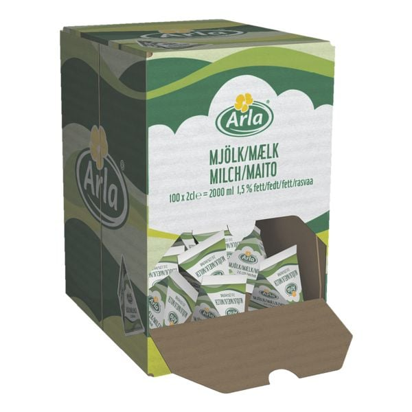 Hellma Portionsweise verpackte »H-Milch Arla 1,5%«
