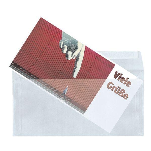 Mailmedia 100 Transparente Briefumschläge, DL+ 82 g/m² ohne Fenster