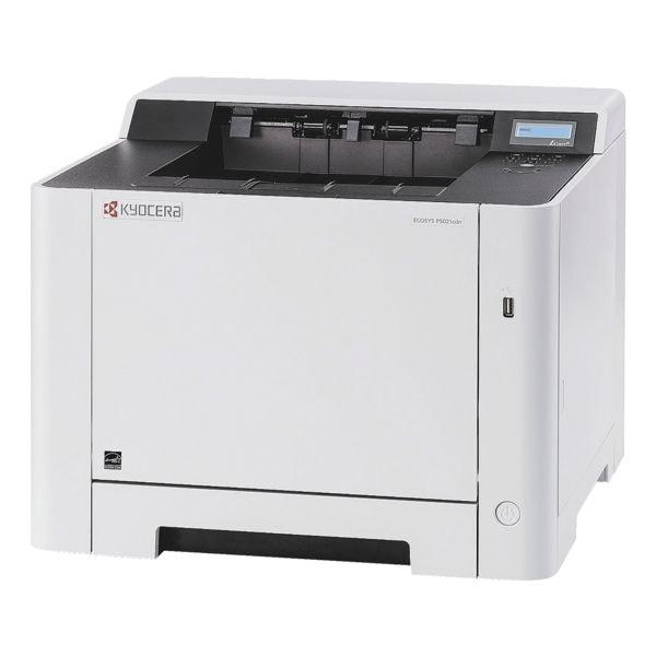 Kyocera ECOSYS P5021cdn Laserdrucker, A4 Farb-Laserdrucker, 1200 x 1200 dpi, mit LAN - 3 Jahre KYOlife Herstellergarantie