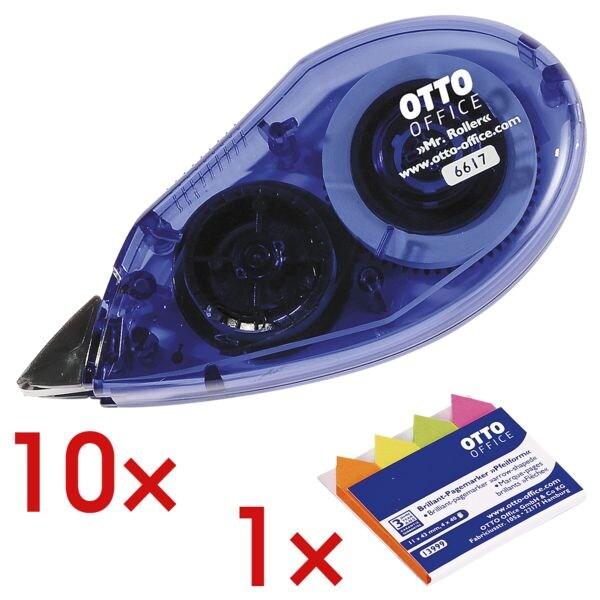 10x OTTO Office Einweg-Korrekturroller Mr. Roller, 4,2 mm / 8,5 m inkl. Pagemarker »Pfeil« 43 x 11 mm
