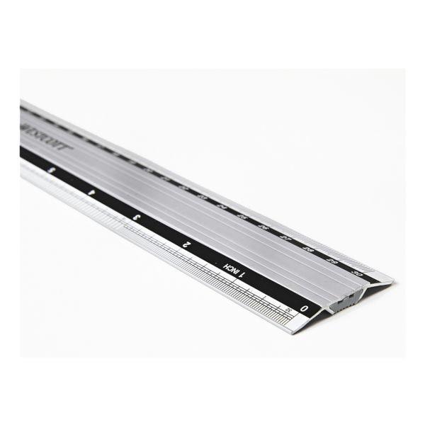 Westcott Aluminium-Lineal 30 cm rutschfest