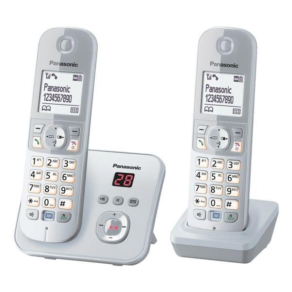 Panasonic Twin-Set Schnurloses Telefon »KX-TG6822GS«