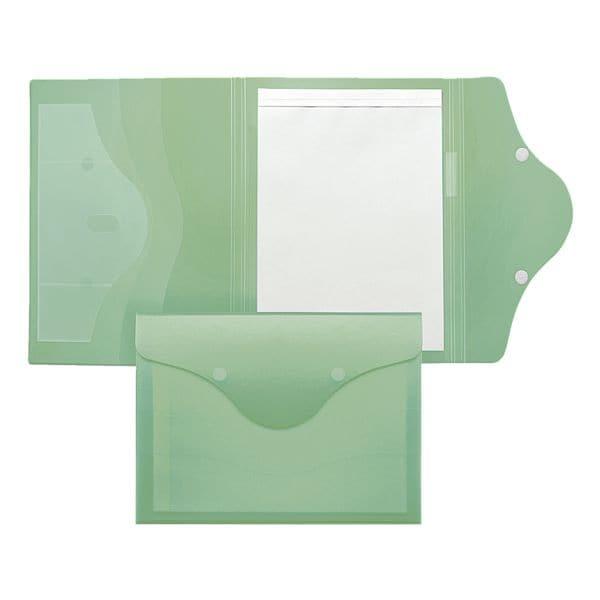 Foldersys Schreibmappe transluzent mit Klettverschluss