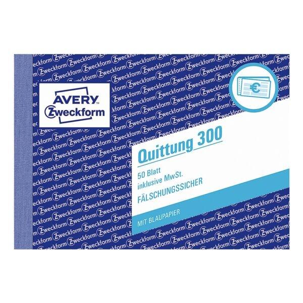Avery Zweckform Formularbuch »Quittung inkl. MwSt.« - 1-fach 50 Blatt
