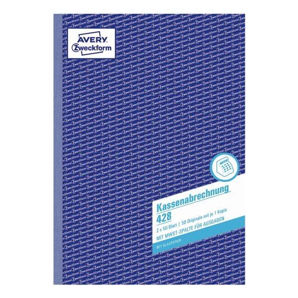 Avery Zweckform Formularbuch »Kassenabrechnung« (Ausgaben)