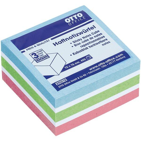 3 Pastell-Farben im 400er-Haftnotizwürfel