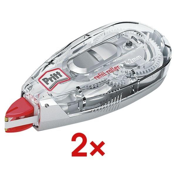 2x Pritt Nachfüllbarer Korrekturroller Refill Flex, 4,2 mm / 12 m