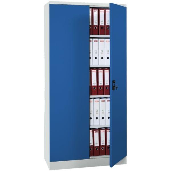 Gürkan Stahlschrank blau abschließbar, 92 x 195 cm, Flügeltür