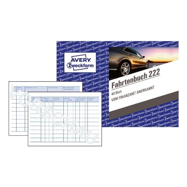 Avery Zweckform 5x Fahrtenbuch »222« (A6 quer)