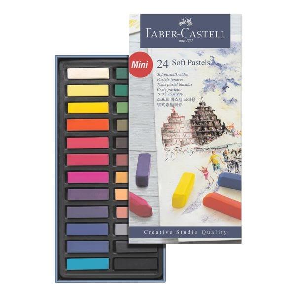 Faber-Castell 24er-Pack Softpastellkreide