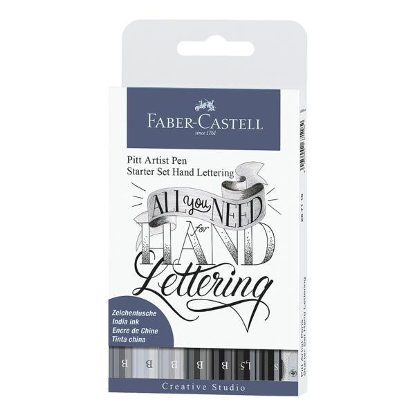 Faber-Castell Starter Set »Pitt Artist Pen« für Hand Lettering