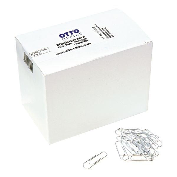 OTTO Office Büroklammern 32mm, silberfarben, 1000 Stück