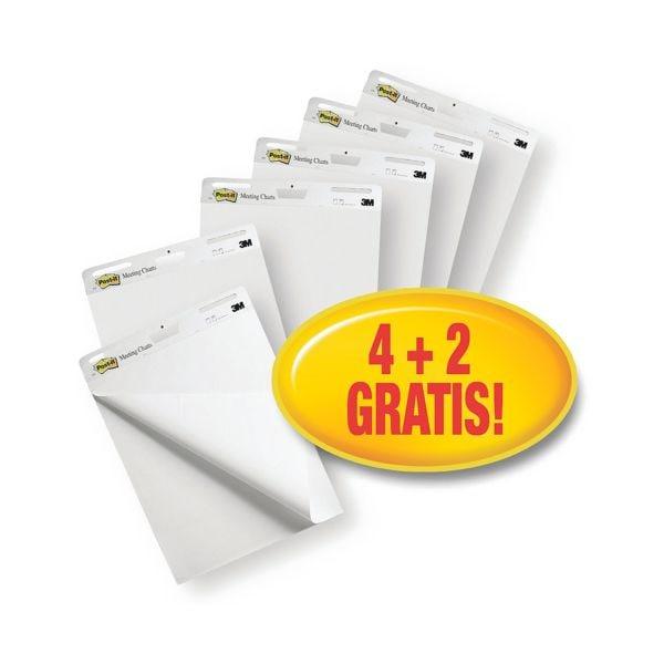 Post-It »Meeting Chart« Haftnotiz und Flipchartblock 4+2 Gratis Vorteilspack