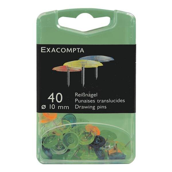 EXACOMPTA 40er-Pack Reißnägel »Linocolor«