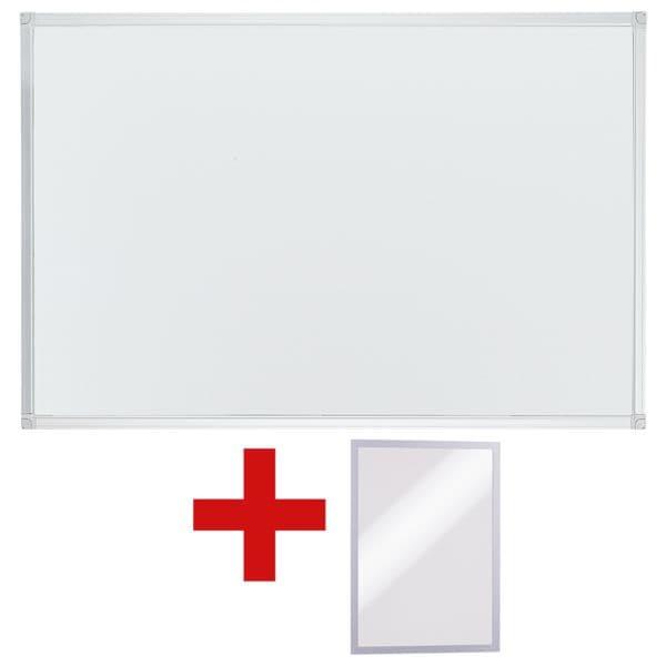 OTTO Office Whiteboard lackiert, 90x60 cm inkl. Magnetischer Inforahmen »Duraframe A5«
