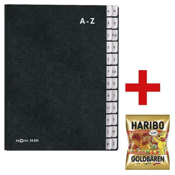 Pagna Pultordner A-Z inkl. Fruchtgummi »Goldbären« 200 g