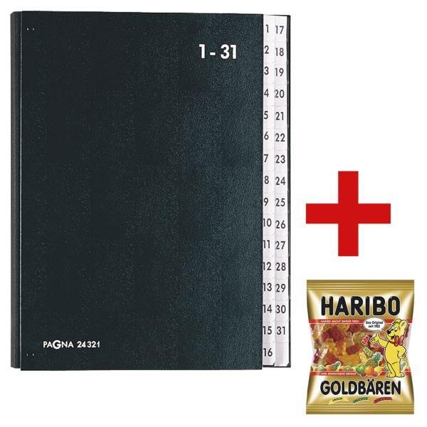 Pagna Pultordner 1-31 inkl. Fruchtgummi »Goldbären« 200 g