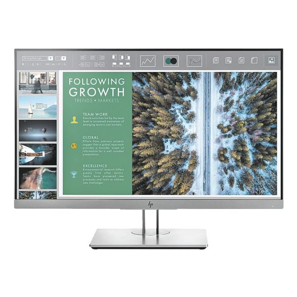 HP EliteDisplay E243 Monitor, 60,45 cm (23,8''), Full HD, VGA, HDMI, DisplayPort, USB