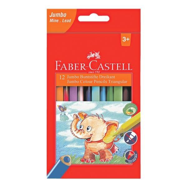 Faber-Castell (Schule) 12er-Pack Buntstifte »Jumbo Dreikant«