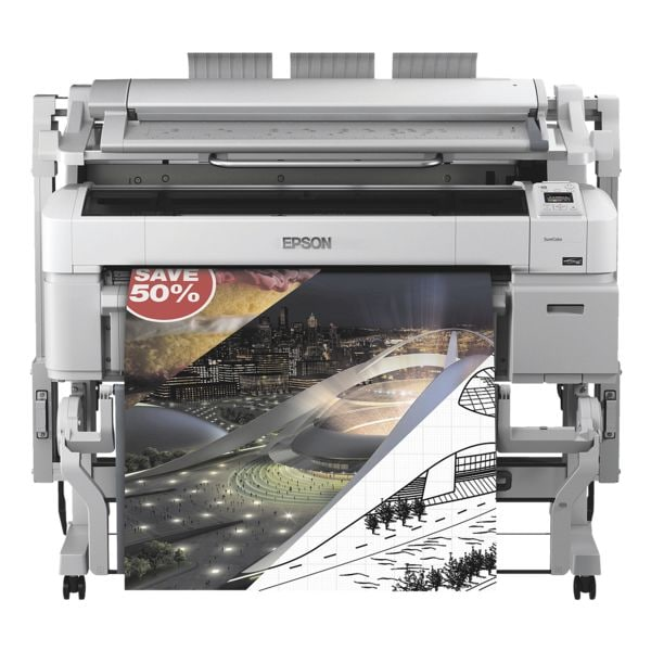 Epson SureColor SC-T5200 Großformatdrucker, A0 Farb-Tintenstrahldrucker, 2880 x 1440 dpi, mit LAN