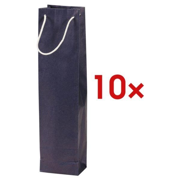 10x Flaschen-Geschenktasche - 1 Flasche (ohne Sichtfenster)