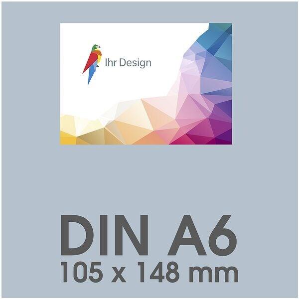 Individualisierbare Flyer A6 1-seitig im Querformat, 170 g/m² glänzend