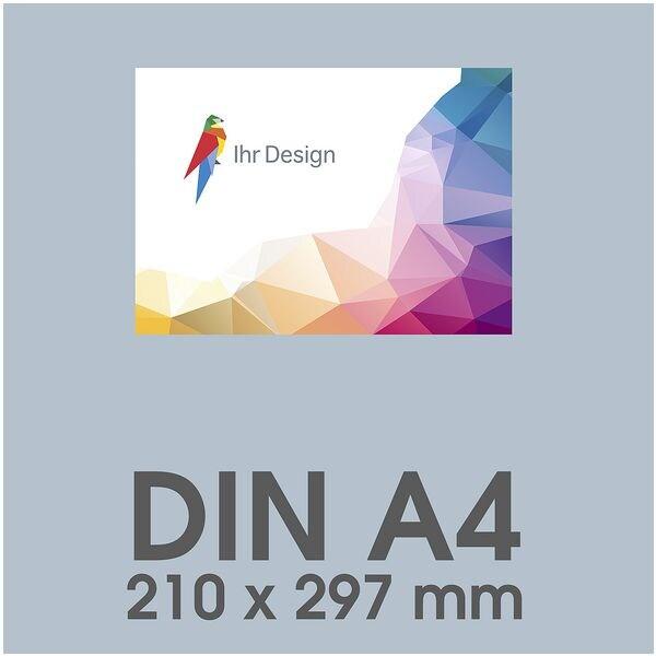 Individualisierbare Flyer A4 1-seitig im Querformat, 170 g/m² matt