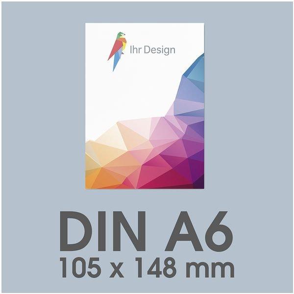 Individualisierbare Flyer A6 1-seitig im Hochformat, 250 g/m² matt