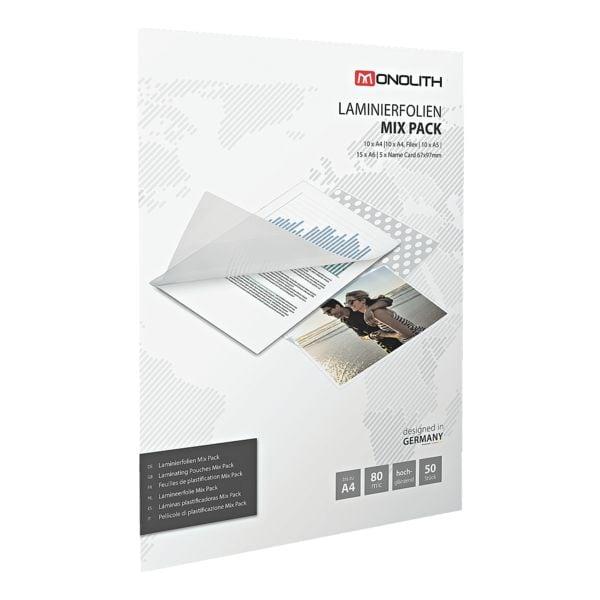 MONOLITH Laminierfolien Starter-Set (verschiedene Formate) 8991A00002