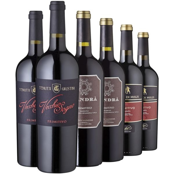 6-teiliges Rotwein-Set »Primitivo«