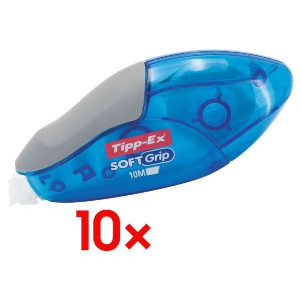 10x Tipp-Ex Einweg-Korrekturroller Soft Grip, 4,2 mm / 10 m