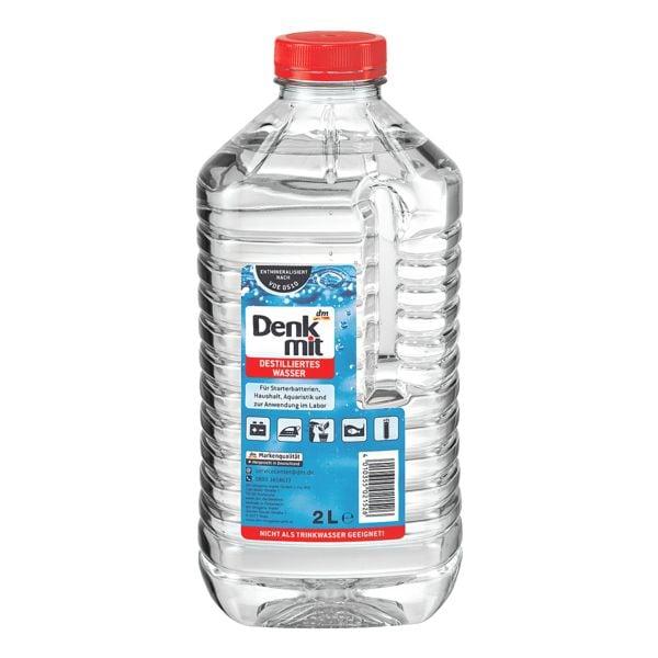 Denkmit 6er-Pack Destilliertes Wasser, 2 Liter