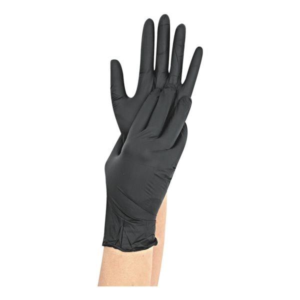 100 Franz Mensch Einmalhandschuhe Nitril, Größe L schwarz