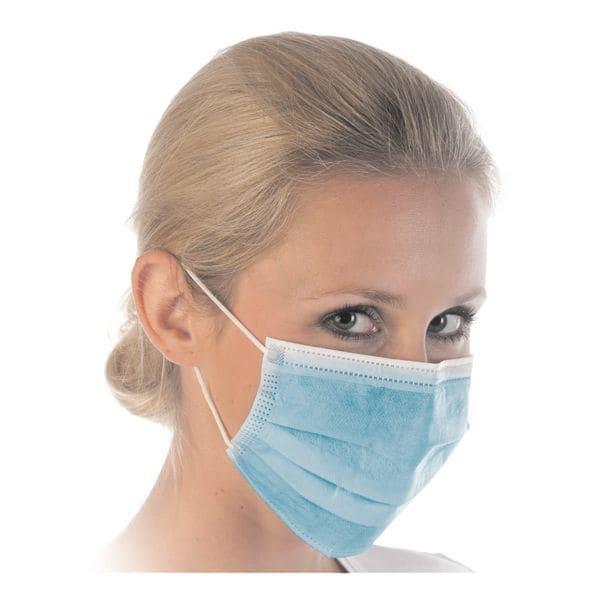 Franz Mensch 50er-Pack medizinische Maske Typ II »HYGOSTAR« 3-lagig blau