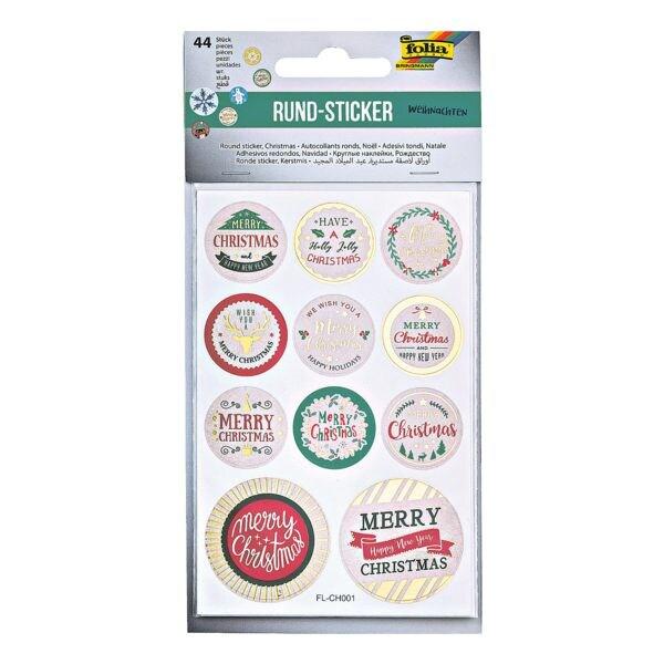 folia Rund-Sticker »Weihnachten«