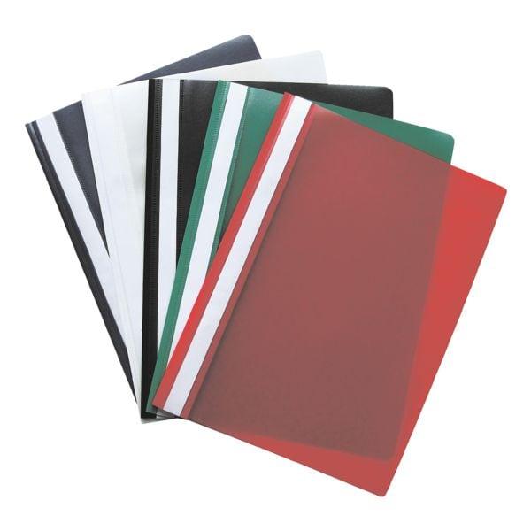 OTTO Office 25x Schnellhefter A4, Fassungsvermögen 200 Blatt, 5 Farben (je 5 Stück pro Farbe)