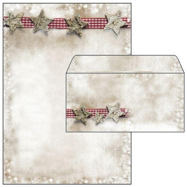 Sigel Motivpapier »Winter Chalet« inkl. Weihnachts-Umschlag »Winter Chalet« - 25 Stück