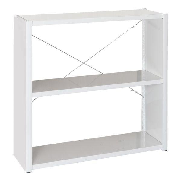 MANORGA Stahlregalsystem »Epsilon« Grundregal 3 Stahlblechböden 100 x 38,8 cm